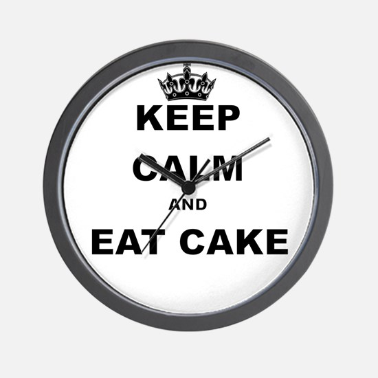 KEEP CALM AND EAT CAKE Wall Clock