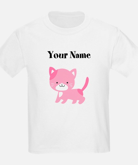 Personalized Pink Cat T-Shirt