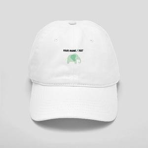 Custom Green Polka Dot Elephant Cap