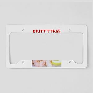 knitting License Plate Holder