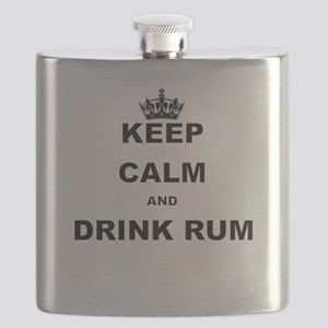 KEEP CALM AND DRINK RUM Flask