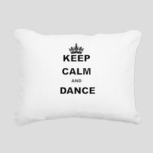 KEEP CALM AND DANCE Rectangular Canvas Pillow