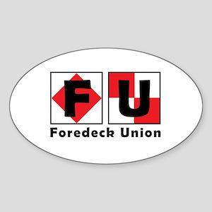 FU Flags Logo Sticker