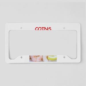 coins License Plate Holder