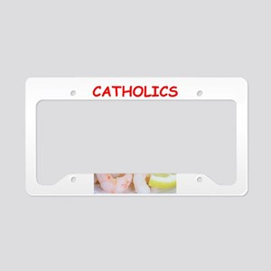 catholic License Plate Holder
