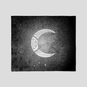 The moon, mandala design Throw Blanket