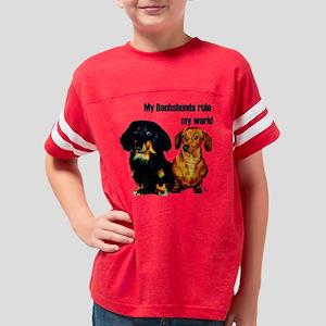 dachshunds dark Youth Football Shirt