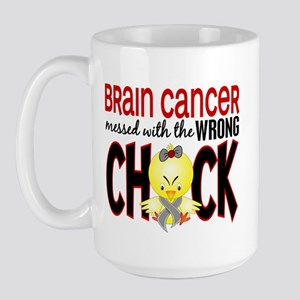 Brain Cancer Messed With Wrong Chick Large Mug