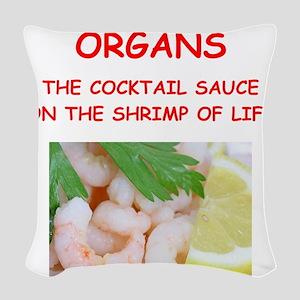 organ Woven Throw Pillow