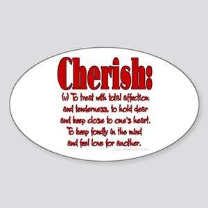 Cherish Definition Oval Sticker