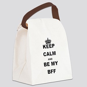KEEP CALM AND BE MY BFF Canvas Lunch Bag