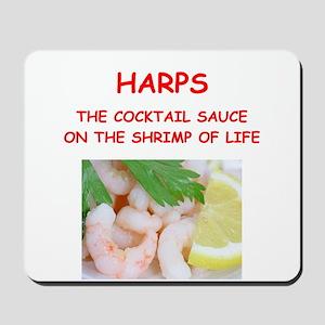 harp,harper,harpist Mousepad