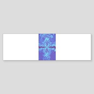 Liquid Cross Bumper Sticker