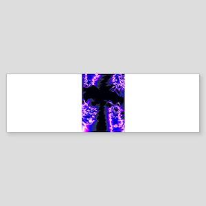 Blue Pastel Cross Bumper Sticker