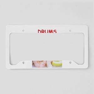 drums License Plate Holder