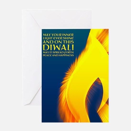 diwali inner light verse Greeting Cards