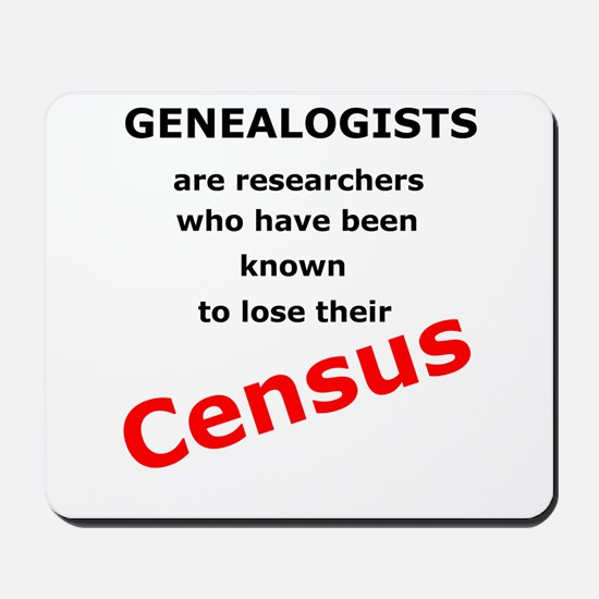 Red Losing Census Mousepad