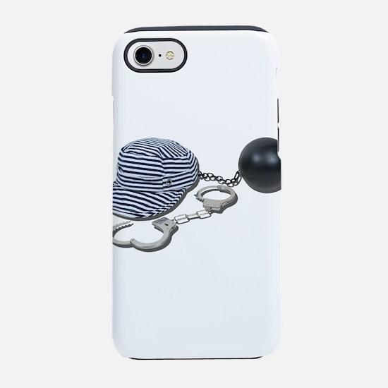 JailBirdHandcuffsBallChain0730 iPhone 7 Tough Case