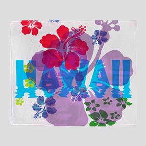 Hawaii Hibiscus Throw Blanket