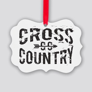 cross country Picture Ornament