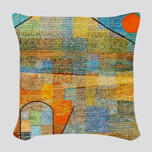 Klee - Ad Parnassus Woven Throw Pillow