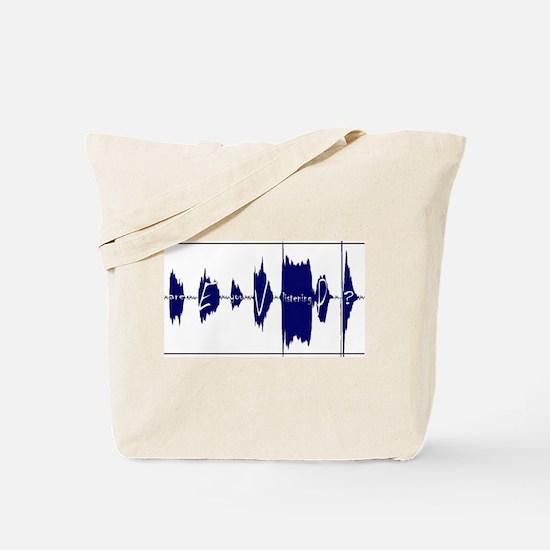 Electronic Voice Phenomena Tote Bag