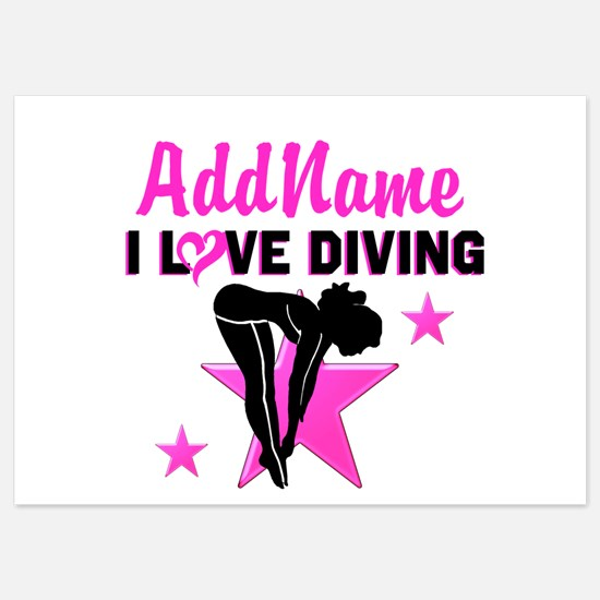 LOVE TO DIVE 5x7 Flat Cards