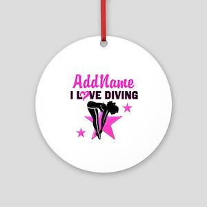 LOVE TO DIVE Ornament (Round)