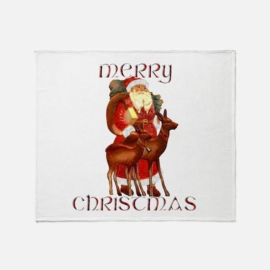 Santa and Reindeer design Throw Blanket