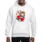 Kitty Valentine Hooded Sweatshirt