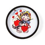 Kitty Valentine Wall Clock