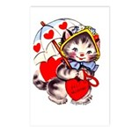 Kitty Valentine Postcards (Package of 8)