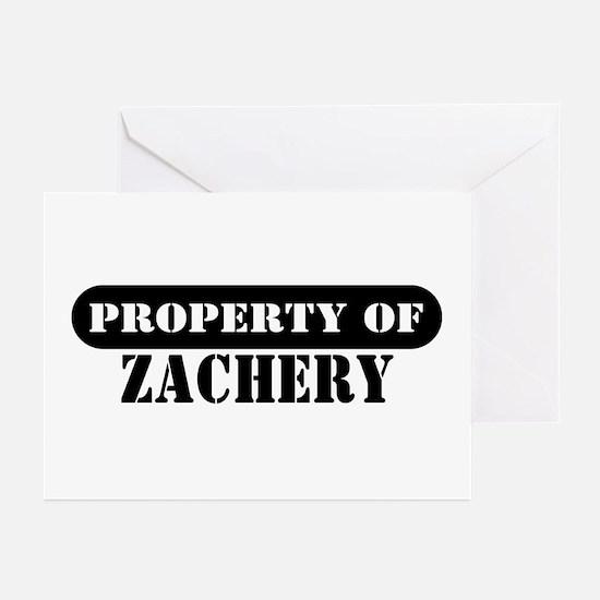 Property of Zachery Greeting Cards (Pk of 10)