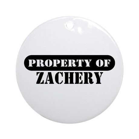 Property of Zachery Ornament (Round)