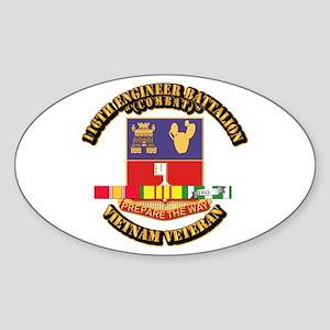 Army - 116th Engr Bn (Combat) SVC Ribbon Sticker (
