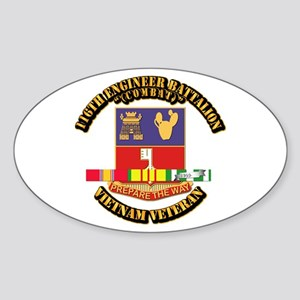 Army - 116th Engr Bn (Combat) SVC Ribbon Sticker (