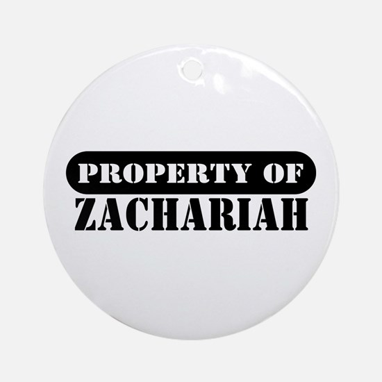 Property of Zachariah Ornament (Round)
