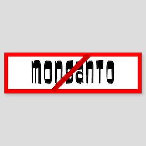 No Monsanto Allowed Bumper Sticker