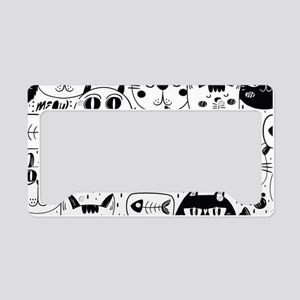 Cat Faces License Plate Holder