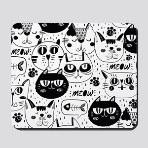 Cat Faces Mousepad
