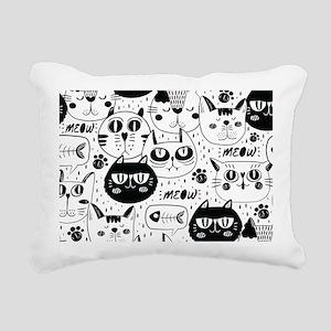 Cat Faces Rectangular Canvas Pillow
