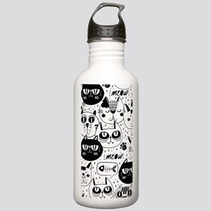 Cat Faces Sports Water Bottle