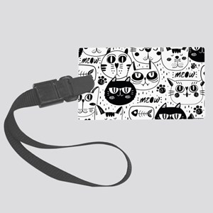Cat Faces Large Luggage Tag
