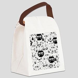 Cat Faces Canvas Lunch Bag