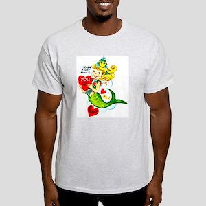 Mermaid Valentine Ash Grey T-Shirt