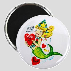 Mermaid Valentine Magnet