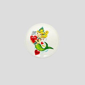 Mermaid Valentine Mini Button