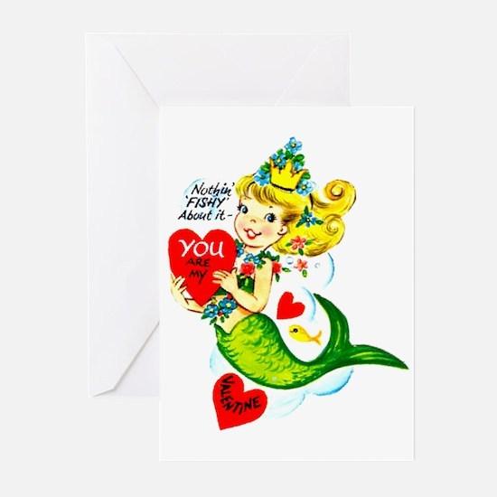 Mermaid Valentine Greeting Cards (Pk of 10)