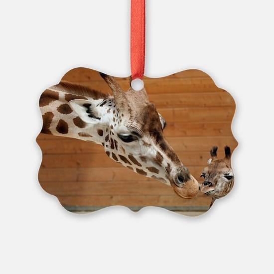 Kissing giraffes Ornament