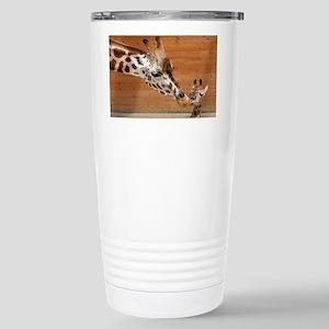 Kissing giraffes Stainless Steel Travel Mug